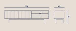 medidas mueble tv sierra
